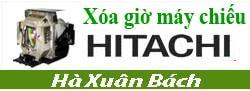 Hướng dẫn xóa giờ cho máy chiếu Hitachi