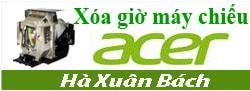 Hướng dẫn xóa giờ cho máy chiếu Acer