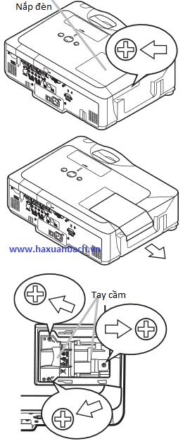 Thay thế bóng đèn máy chiếu 3M X90W