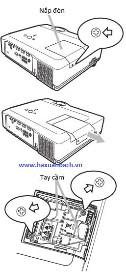 Hướng dẫn thay thế bóng đèn máy chiếu 3M X66