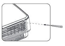 Mở ốc cố định nắp đèn máy chiếu Benq MX505