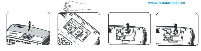 Hướng dẫn thay  đèn máy chiếu BenQ MX505