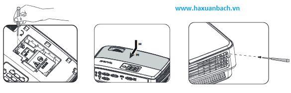 Hướng dẫn thay  đèn máy chiếu BenQ MX505 tiếp theo