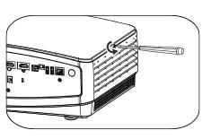 Mở ốc cố định nắp đèn máy chiếu benq MX738