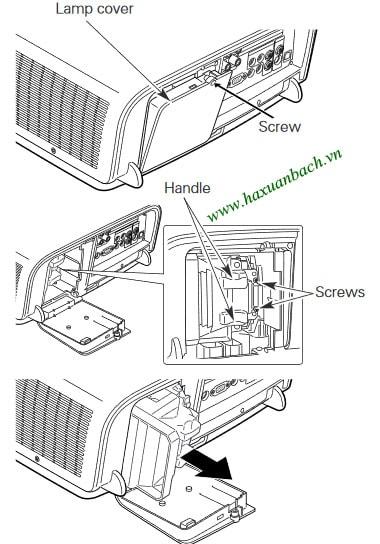 Cách thay bóng đèn máy chiếu Christie LX450
