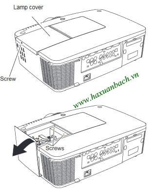 Các bước thay bóng đèn máy chiếu Sanyo PLC-XM100