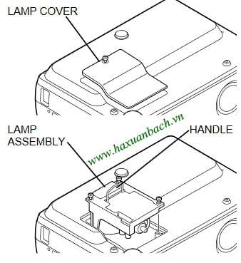 06 bước thay bóng đèn máy chiếu Boxlight CP-310T