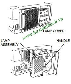 6 Bước thay bóng đèn máy chiếu Infocus LP810