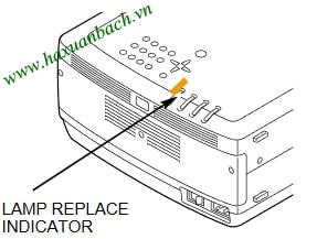 Đèn báo thay bóng đèn máy chiếu Christie LX65