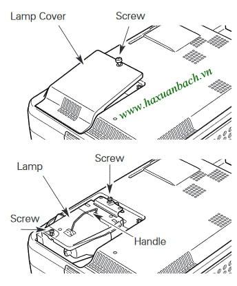 06 Bước thay bóng đèn máy chiếu Eiki LC-XB28