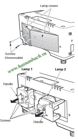 Cách thay bóng đèn máy chiếu Christie LX66