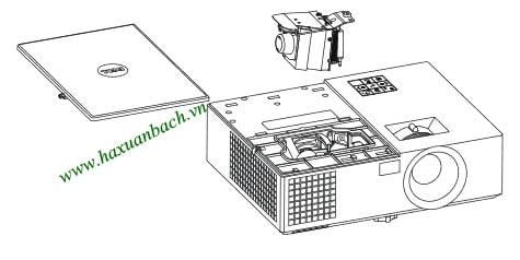 08 bước thay bóng đèn máy chiếu Dell 1550