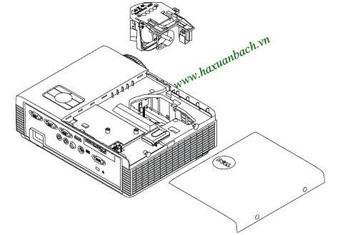 08 bước thay bóng đèn máy chiếu Dell S320wi