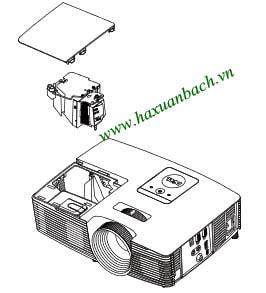 09 bước thay bóng đèn máy chiếu Dell 1220