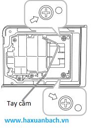 Hướng dẫn thay thế bóng đèn máy chiếu Hitachi HCP-Q61