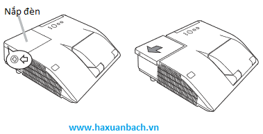 hướng dẫn thay bóng đèn máy chiếu hitachi HCP-Q61