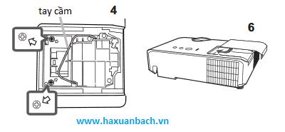 hướng dẫn thay thế bóng đèn máy chiếu hitachi CP-X3030WN