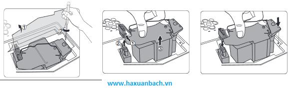 thay thế bóng đèn máy chiếu Hitachi CP-EX250