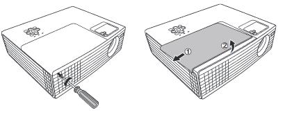 Tháo Lamp cover thay bóng đèn máy chiếu Hitachi CP-EX250