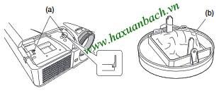 Cách thay bóng đèn Mitsubishi XD510U - 1