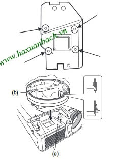 Cách thay bóng đèn Mitsubishi XD510U - 4