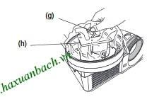 Cách thay bóng đèn Mitsubishi XD510U - 5
