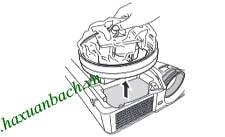 Cách thay bóng đèn Mitsubishi XD510U - 6