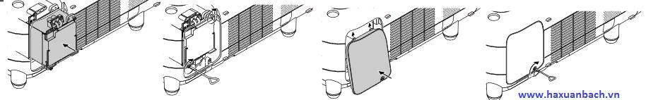 Hướng dẫn cách lắp mới bóng đèn máy chiếu NEC GT5000