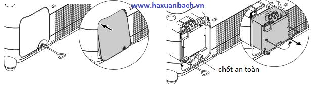 Hướng dẫn cách mở bóng đèn máy chiếu Nec GT5000