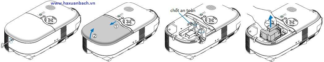 Hướng dẫn cách lắp một bóng đèn máy chiếu NEC LT180
