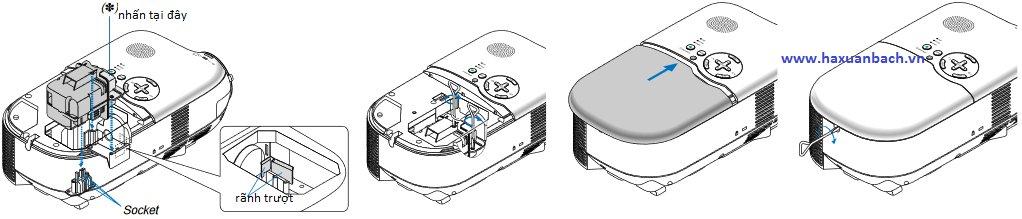 hướng dẫn lắp bóng đèn máy chiếu NEC LT180