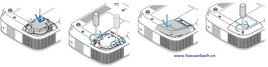 hướng dẫn lắp bóng đèn máy chiếu NEC LT30