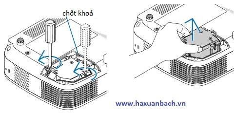 Hướng dẫn cách lắp một bóng đèn máy chiếu NEC LT30