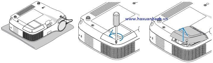 Hướng dẫn thay đèn máy chiếu NEC LT35