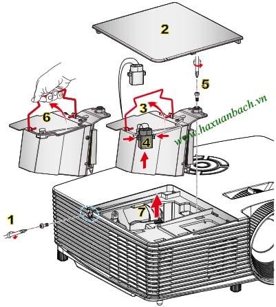 Cách thay bóng đèn máy chiếu Optoma GT1080E