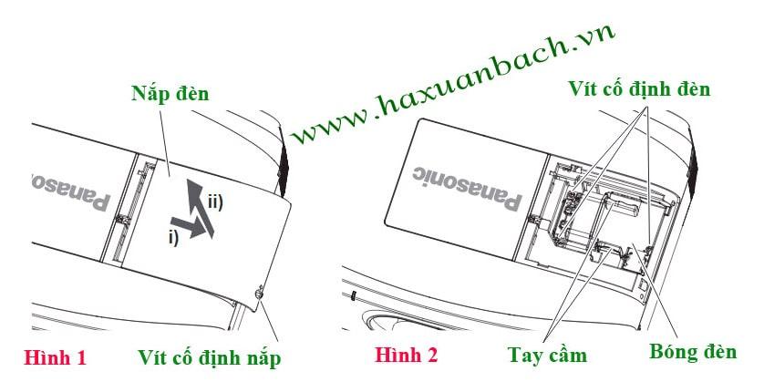 cách thay bóng đèn máy chiếu Panasonic PT-EZ590