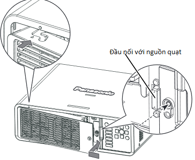 Bóng đèn máy chiếu Panasonic PT-DX610E lắp mới