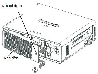 mở nắp bóng đèn máy chiếu Panasonic PT-DX610E