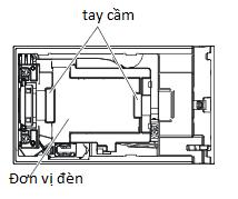 Bóng đèn máy chiếu Panasonic PT-X302 vị trí tay cầm