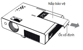 Bóng đèn máy chiếu Panasonic PT-X302 hd tháo nắp