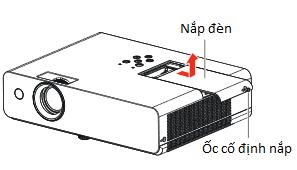 Bóng đèn máy chiếu Panasonic TX312 tháo nắp