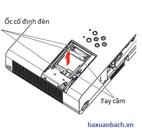 Bóng đèn máy chiếu Panasonic PT-LB303 mở đèn