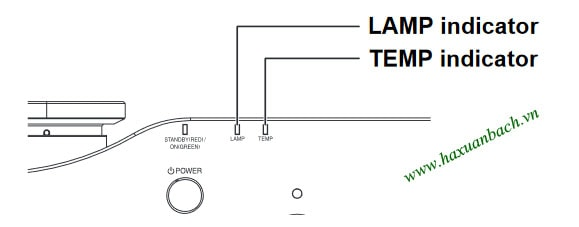Cách báo thay bóng đèn máy chiếu Panasonic PT-AX200