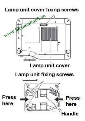 Cách thay bóng đèn máy chiếu Panasonic PT-AX200