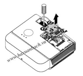 Thay bóng đèn máy chiếu Promethean PRM-36 bước 3. 4. 5
