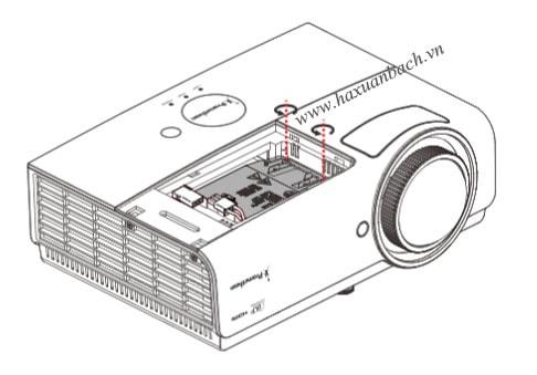 Tháo 02 ốc cố định bóng đèn Prometehan PRM-45