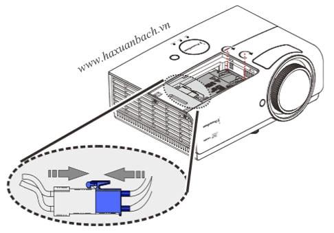 ắp bóng đèn máy chiếu Promethean PRM45 mới vào