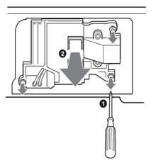 Thay bóng đèn máy chiếu Sony VPL-CX100 bước 4