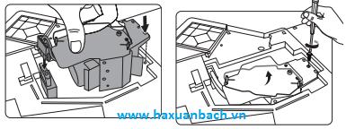 Hướng dẫn cách lắp bóng đèn máy chiếu Viewsonic PJD6543W mới