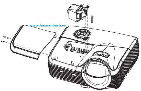Hướng dẫn thay thế bóng đèn máy chiếu Viewsonic PJD8633WS